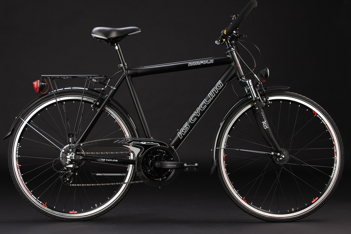 28 Men S Trekking Bike 24 Gear Norfolk Black Aluminium 53 Cm Ks