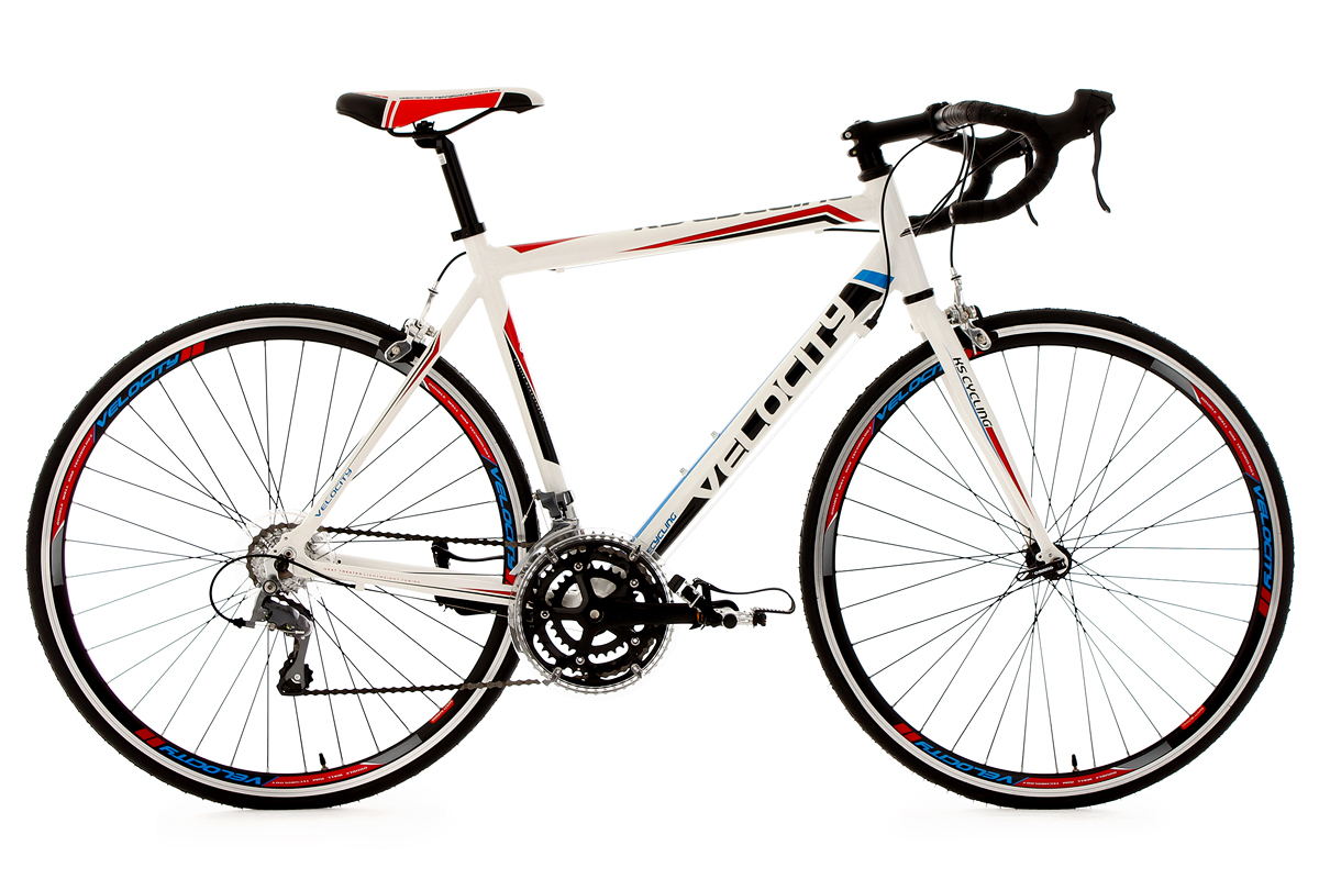 Road Racing Bike Velocity 28 Aluminium Frame White 53 Cm Ks