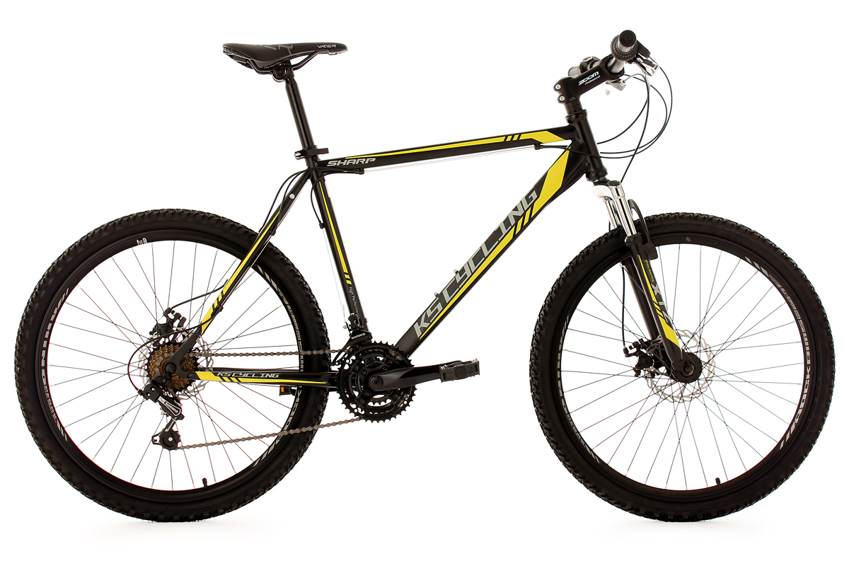 Mountain Bike Hardtail 26 Sharp Black 21 Gears Frame 51 Cm New