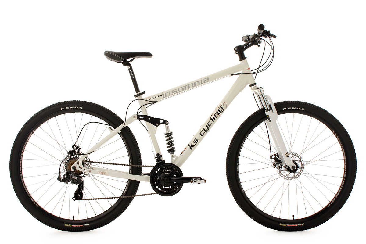 Mountain Bike 29 Full Suspension Insomnia White 21 Gears Frame