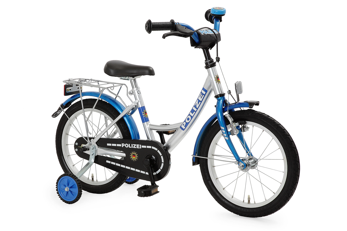 kinderfahrrad 18 fahrrad polizei blau 434 pz 77 ebay. Black Bedroom Furniture Sets. Home Design Ideas