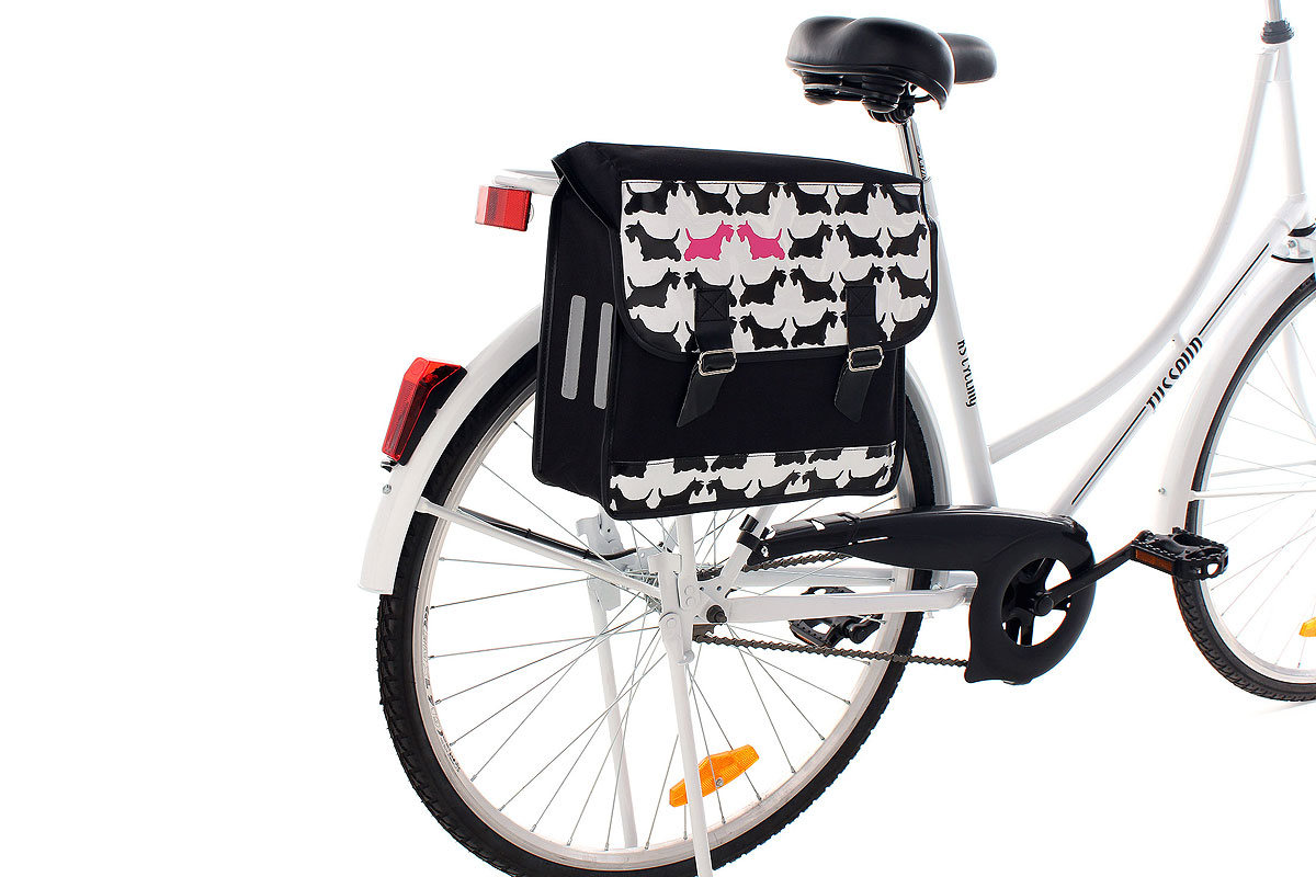 sacoche porte bagages sacoche velo motif scottie neuf ks cycling 524k. Black Bedroom Furniture Sets. Home Design Ideas