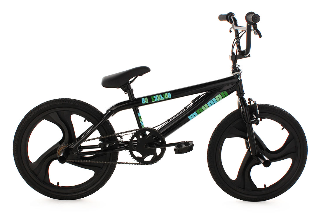 bmx bike freestyle fahrrad 20 rad madmag schwarz 530b. Black Bedroom Furniture Sets. Home Design Ideas