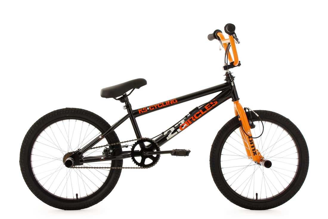 BMX-BIKE-FREESTYLE-20-4-PEGS-RAD-CIRCLES-360-ROTOR-ORANGE-KS-CYCLING-543B