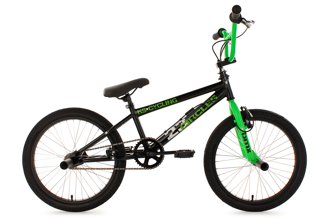BMX-BIKE-FREESTYLE-FAHRRAD-20-RAD-CIRCLES-GRUN-KS-CYCLING-566B