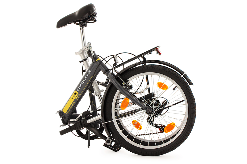 20 Folding Bike Toulouse Charcoal Grey 6 Gears Ks Cycling New