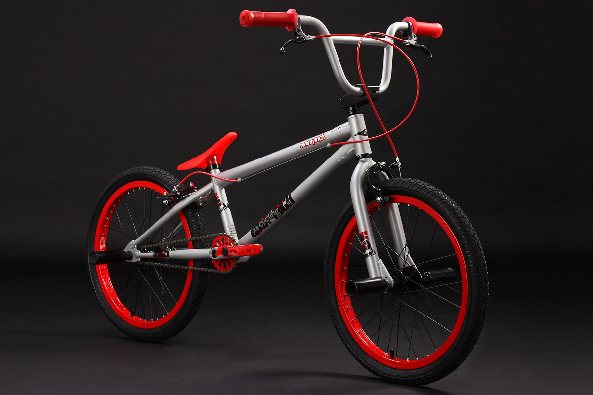 Freestyle Bmx Bike Twentyinch Silver Red 360 Rotor 4 Pegs 20