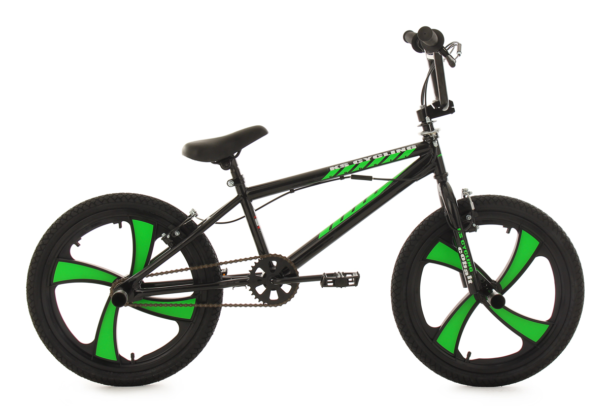 20 bmx bike freestyle kinder fahrrad rad cobalt schwarz. Black Bedroom Furniture Sets. Home Design Ideas
