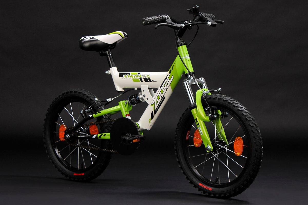 kinderfahrrad mountainbike fully 16 zoll zodiac weiss. Black Bedroom Furniture Sets. Home Design Ideas