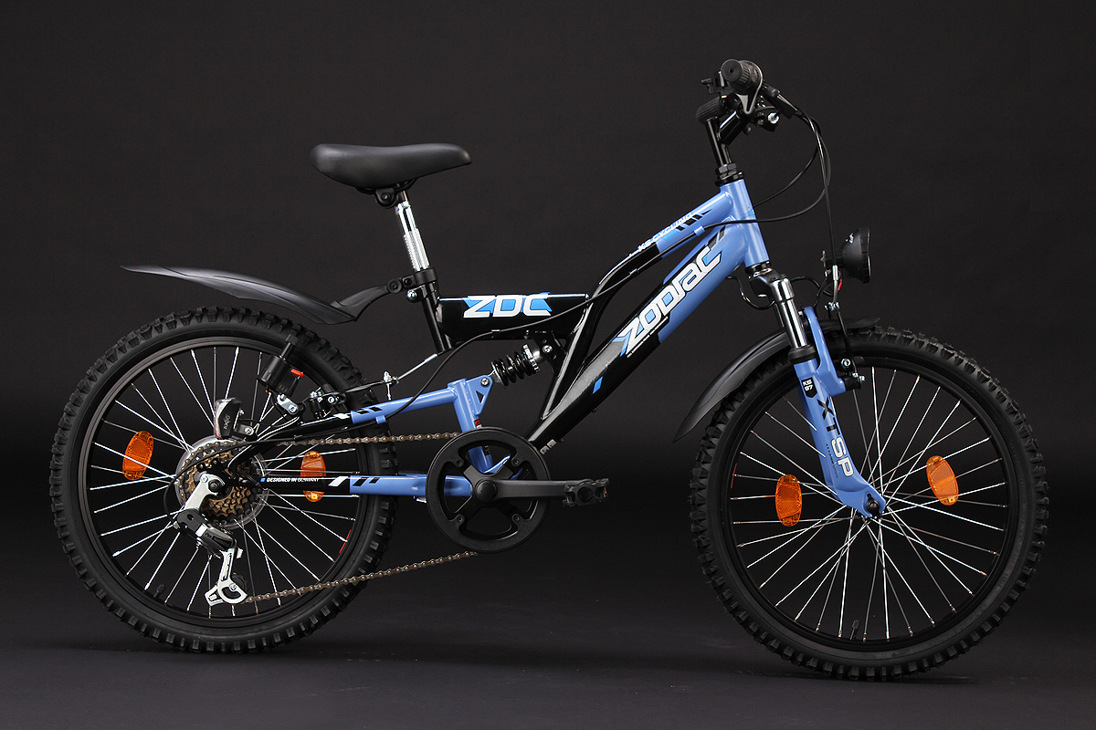 kinderfahrrad mountainbike fully 20 zoll zodiac blau. Black Bedroom Furniture Sets. Home Design Ideas
