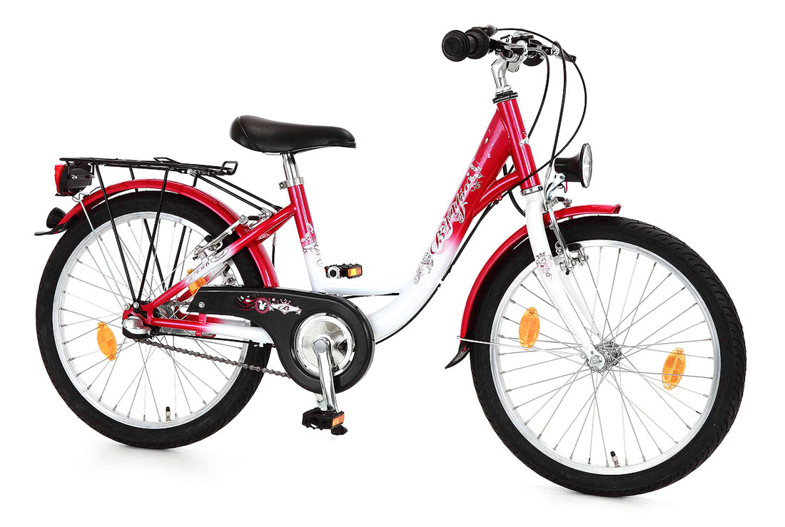 kinderfahrrad 20 fahrrad b you rot weiss 747 by 24 ebay. Black Bedroom Furniture Sets. Home Design Ideas