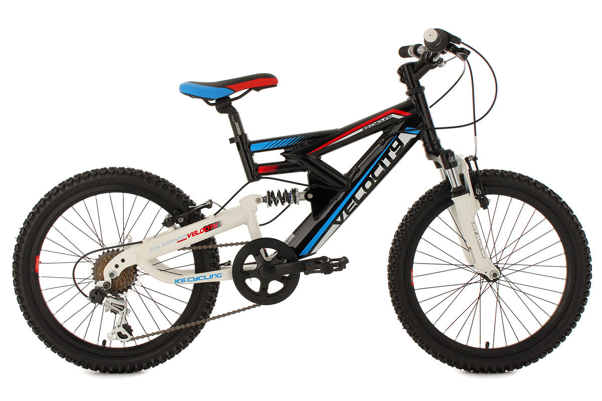 kinderrad 20 zoll weiss mountainbike fully velocity rh 33 cm ks cycling vel1002 ebay. Black Bedroom Furniture Sets. Home Design Ideas
