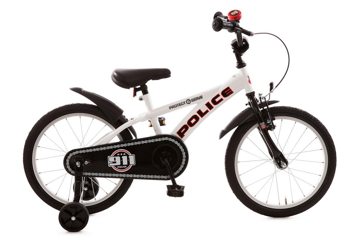 bachtenkirch 18 kinderfahrrad fahrrad police schwarz wei 484 pc 88 ebay. Black Bedroom Furniture Sets. Home Design Ideas
