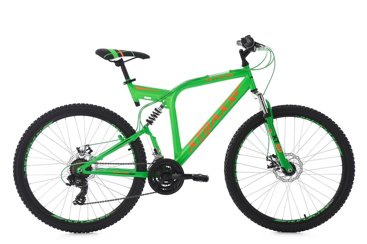 mountainbike fully 26 mtb xtraxx gr n orange 21 g nge rh 53 cm ks cycling 215m ebay. Black Bedroom Furniture Sets. Home Design Ideas