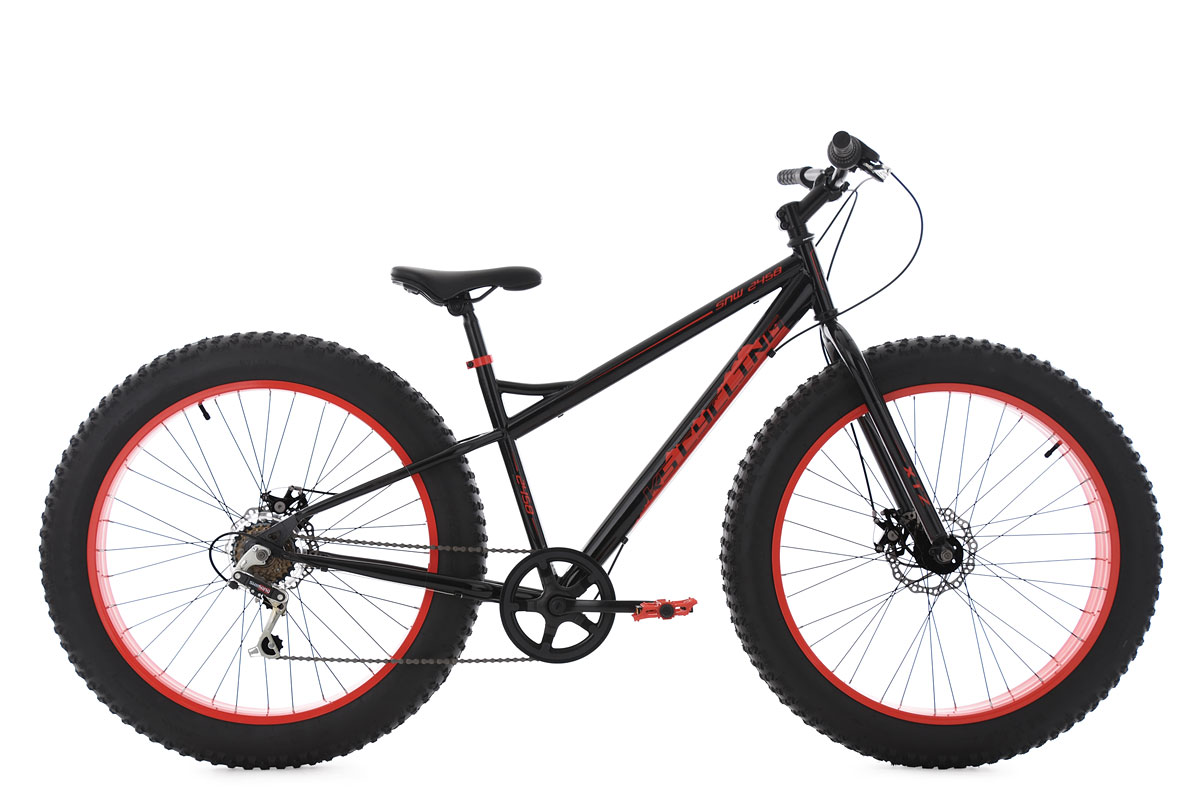 mountainbike hardtail 26 fatbike snw2458 mtb schwarz rot. Black Bedroom Furniture Sets. Home Design Ideas
