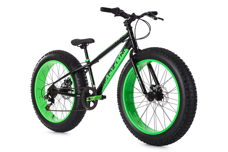 fatbike 24 39 39 mountain bike kinder snw2458 schwarz gr n rh. Black Bedroom Furniture Sets. Home Design Ideas