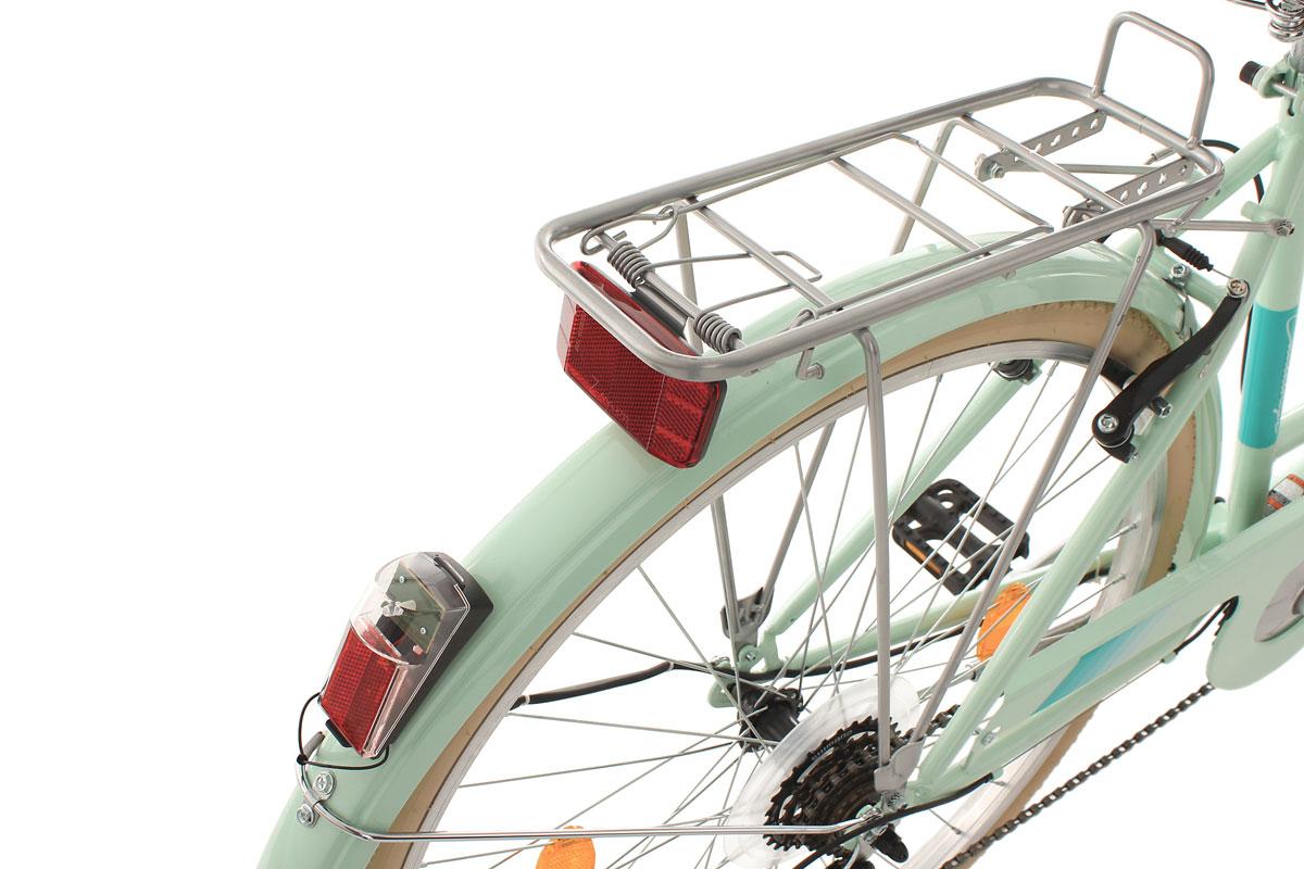 damen cityrad 28 mit korb citybike 6 g nge cantaloupe gr n ks cycling 309c ebay. Black Bedroom Furniture Sets. Home Design Ideas
