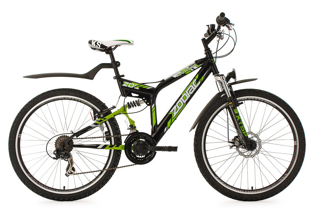 Mountainbike ATB Fully 26\'\' MTB 21-Gänge Scheibenbremse Zodiac RH 48 ...