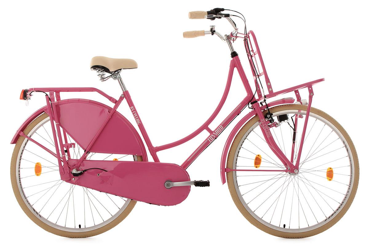damenrad hollandrad 28 tussaud pink 3 g nge lastentr ger. Black Bedroom Furniture Sets. Home Design Ideas