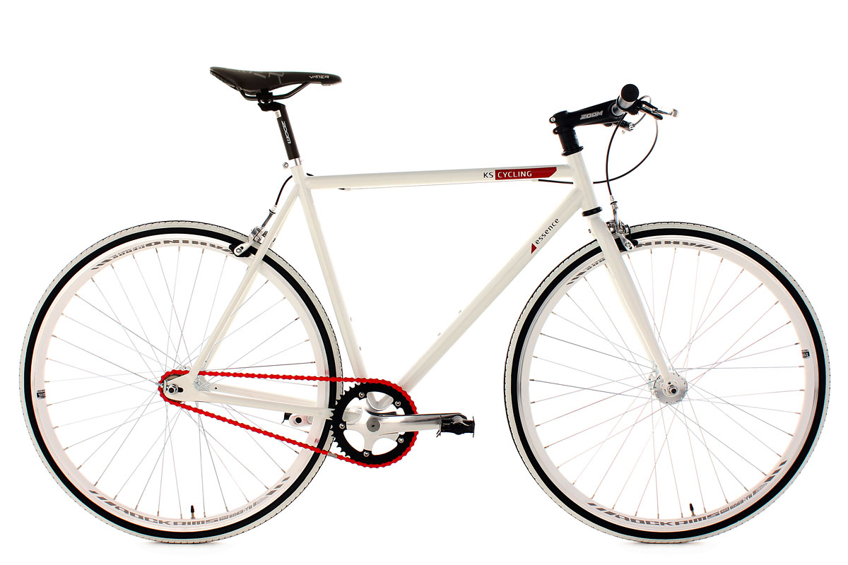 Fitness Bike Essence Fixed Gear 28 White Frame 56 Cm Ks Cycling