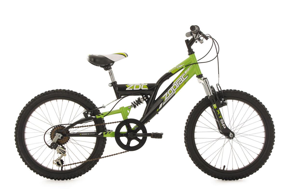 Kinderfahrrad 20 Zoll Mountainbike Fully Zodiac Schwarz-Grün RH 31 ...