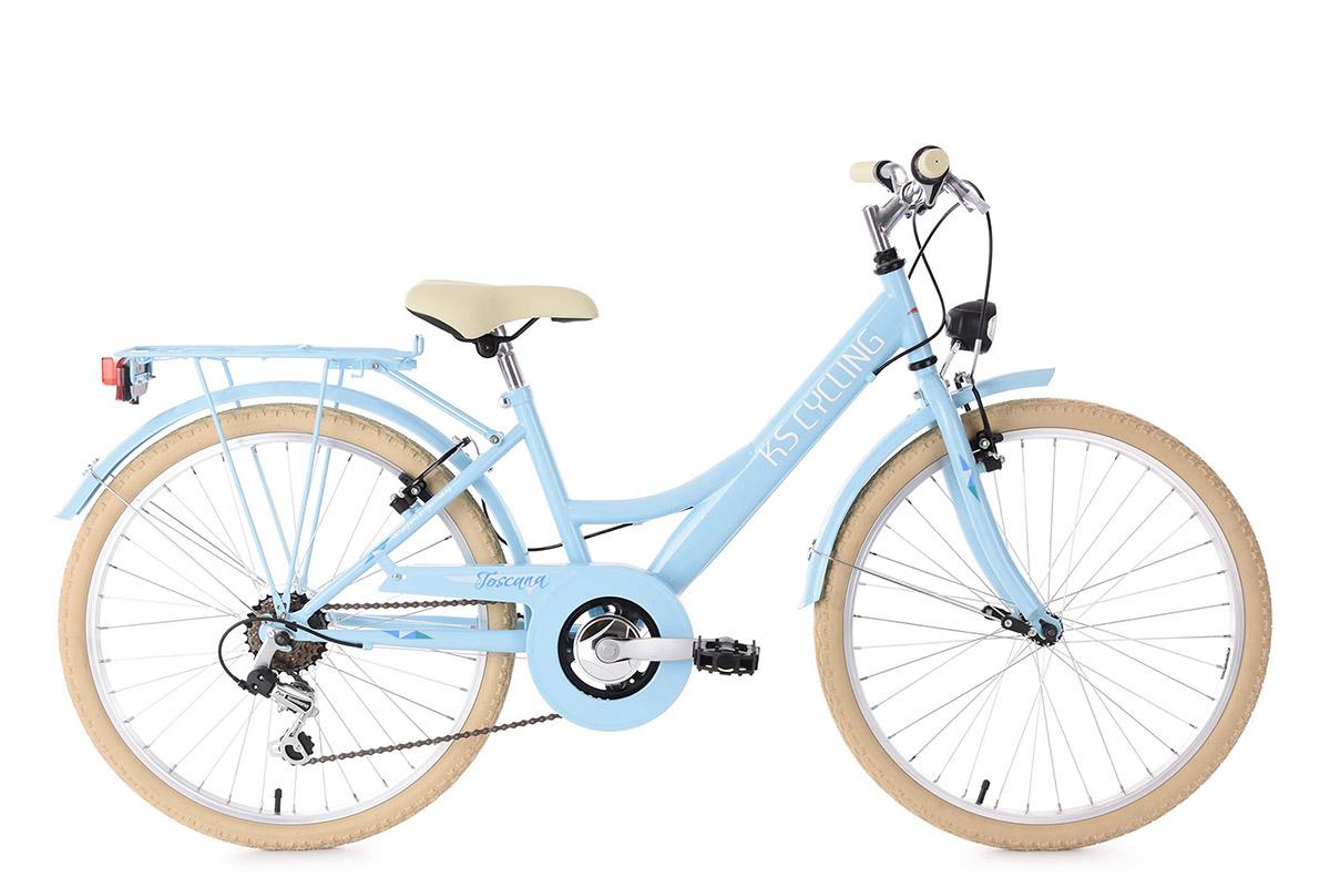 kinderfahrrad 24 zoll toscana hellblau 6 g nge ks cycling. Black Bedroom Furniture Sets. Home Design Ideas