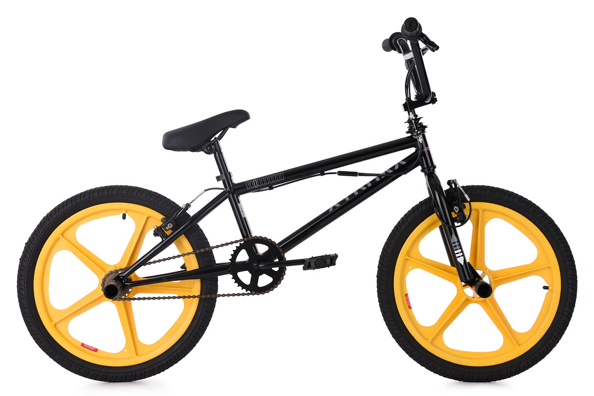 20 Quot Freestyle Bmx Bike Quot Xtraxx Quot Black Yellow Mag Wheels Ks