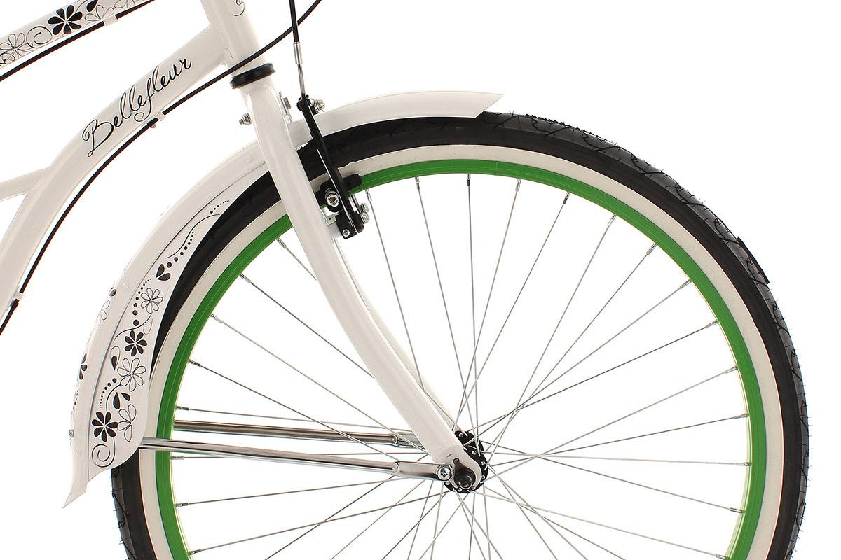 beachcruiser damen 6 gang 26 bellefleur wei bike 6 g nge. Black Bedroom Furniture Sets. Home Design Ideas
